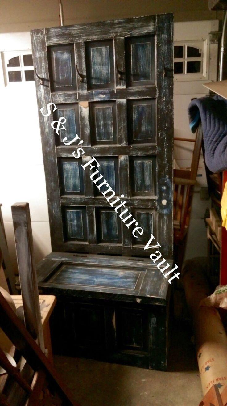 old wooden door hall tree hall tree repurposed door entryway bench entryway storage bench coat rack distressed bench m