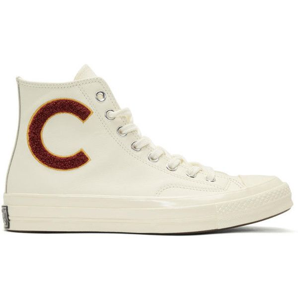Converse White Chuck Taylor All Star 70 Wordmark Wool High-Top... ($98) ❤ liked on Polyvore featuring men's fashion, men's shoes, men's sneakers, white, mens white high top shoes, mens lace up shoes, g star mens shoes, mens white sneakers and mens white shoes