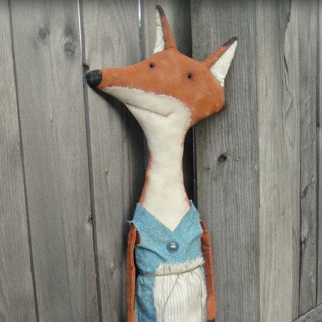 Hey, I found this really awesome Etsy listing at https://www.etsy.com/listing/130360666/jackie-a-primitive-folk-art-fox-pattern