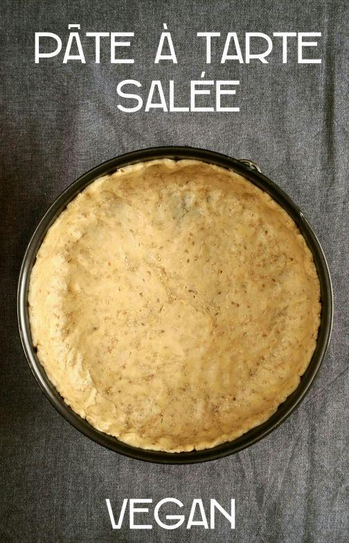 Pâte à tarte salée vegan
