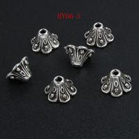 100 шт. 66 - 3 сплава цинка тибетский бусины старину серебро старинные бусины заглушки подходят 9 мм бусины
