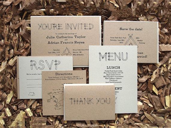 Rustic Wedding Invitation Suite  Letterpress by seabornpress, $8.00