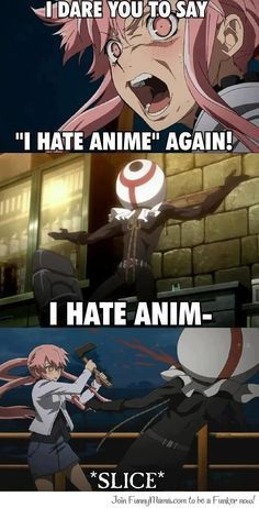 and this, ladies and gentlemen, is what i'm going to get Yuno to do to ANYONE who even dislikes anime in the tiniest bit :)