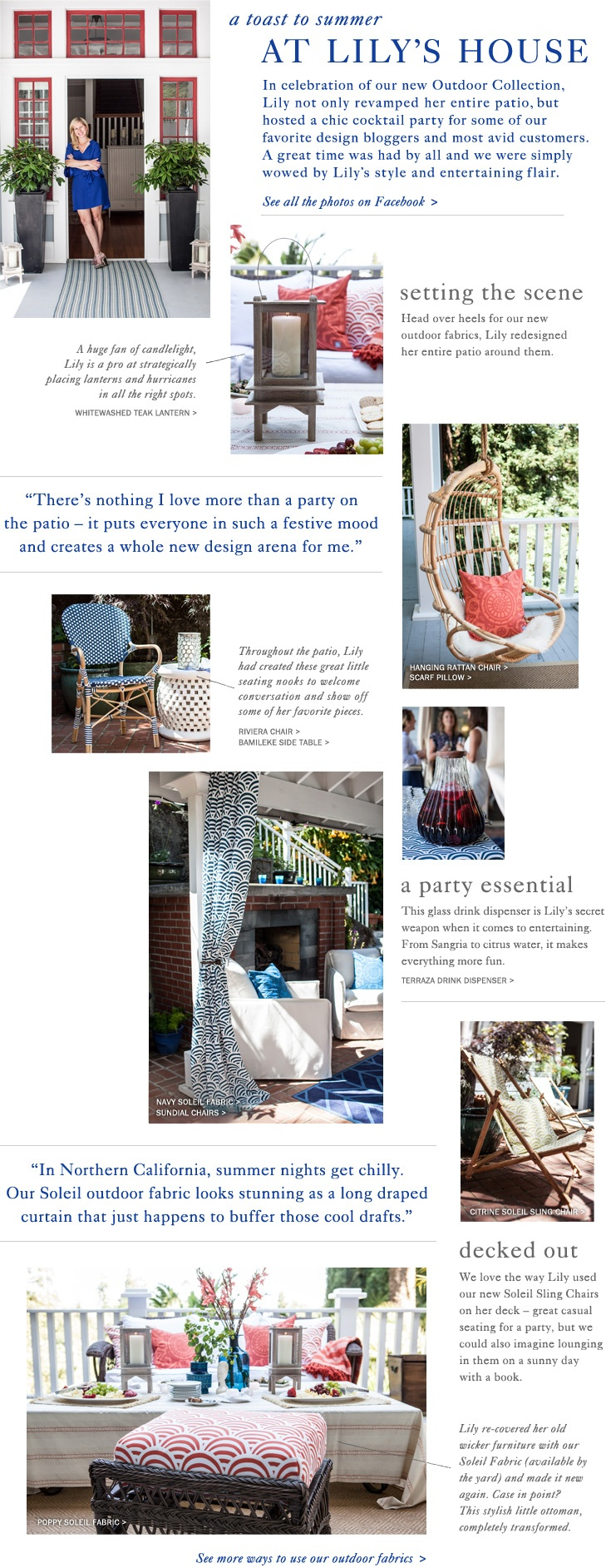 At Lily's House | Serena & Lily  outdoor curtain