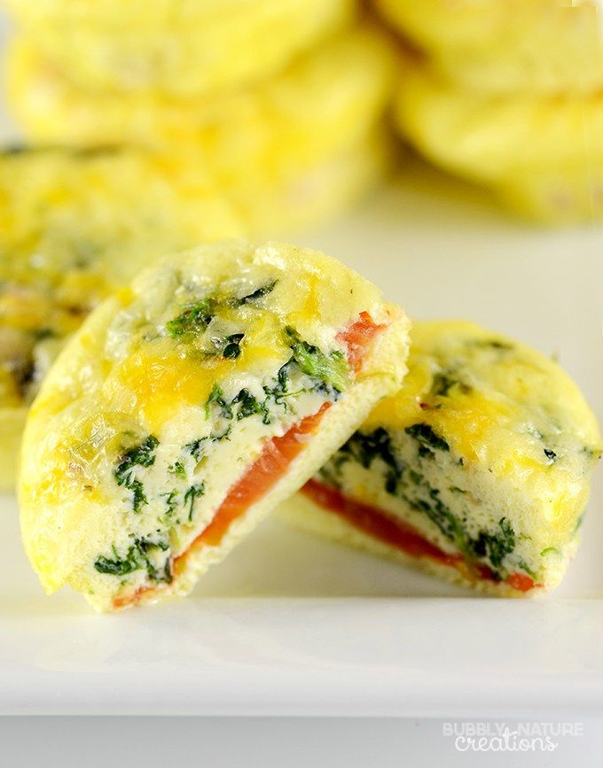 12 Easy Make Ahead Breakfast Muffins! Cheesy and delicious! #WeightWatchers