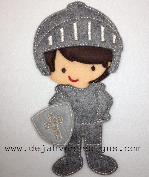 Non Paper Dolls offered by Stone House Stitchery **Outfit Only** Knight Outfit 5x7 Felte Dolls Embroidery Design