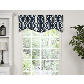 Shop for Andros Blue Lattice M-shaped Window Valance. Free Shipping on orders over $45 at Overstock.com - Your Online Home Decor Outlet Store! Get 5% in rewards with Club O!