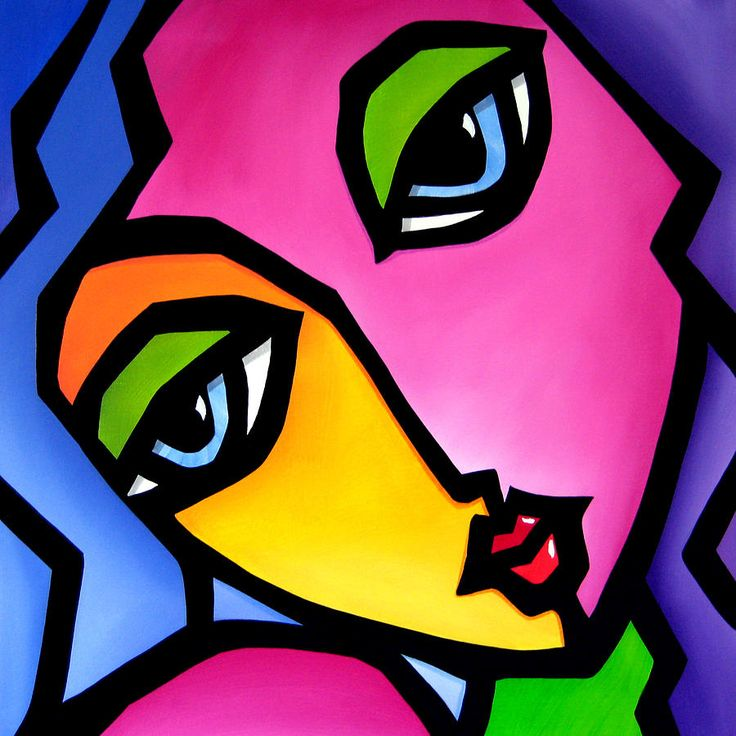 Once Again - Original Pop Art Painting by Tom Fedro - Fidostudio
