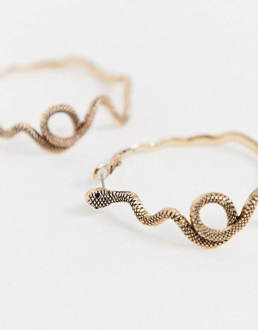 d86affdf63 ALDO Raengwen snake hoop earrings in gold in 2019 | Jewelry Ideas ...