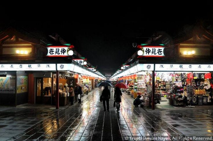 Nakamise-Dori is a quaint market street leading from the Thunder Gate into the bustling city streets lined with the shiny high rises synonym...