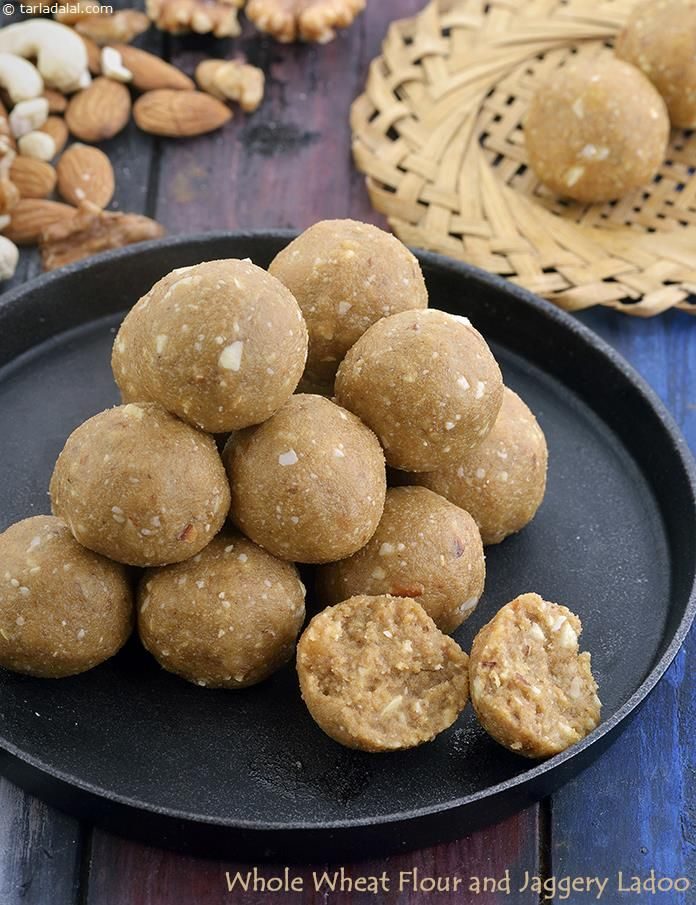 Whole Wheat Flour and Jaggery Ladoo