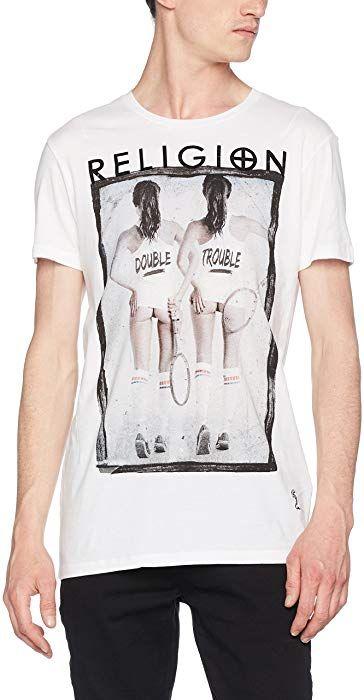 a346d94782bb Religion Double Trouble SS, T-Shirt Homme, Blanc (White 013), S  Amazon.fr   Vêtements et accessoires   Fashion MEN ♂   Pinterest   Mens fashion et ...