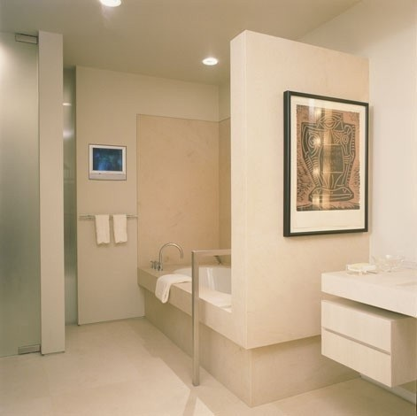 Bathroom By Kanner Architects. Turning Space For Wheelchair, Floor Mounted  Grab Bar Over Bath, Curbless Access To Toilet And Shower Areas, ...