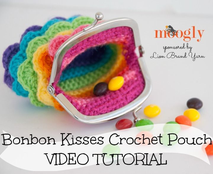 The Bonbon Kisses Crochet Pouch now has a video tutorial! From Mooglyblog.com