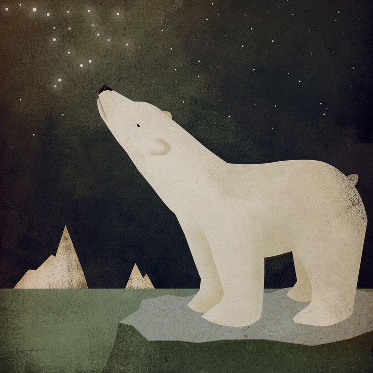 Constellations Polar Bear - Fototapeter & Tapeter - Photowall