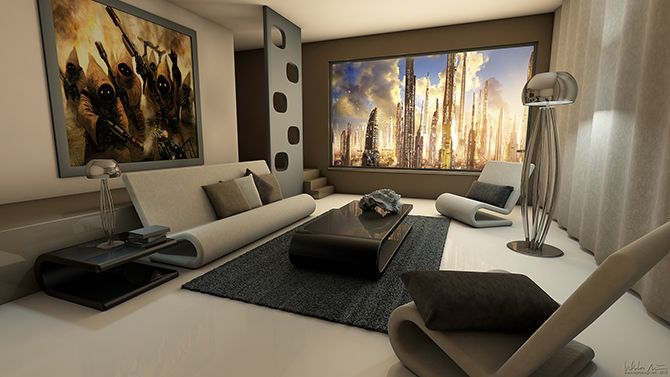 inspirational retro futuristic living room ideas | living room