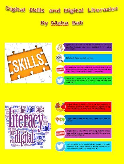 Digital Skills and Digital Literacies by Maha Bali