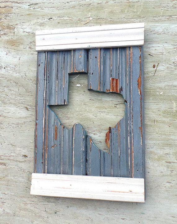 Texas Wall Art Rustic Wood Decor Rustic Texas Decor State
