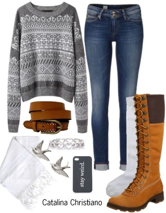 I love this if you want a cozy look for school