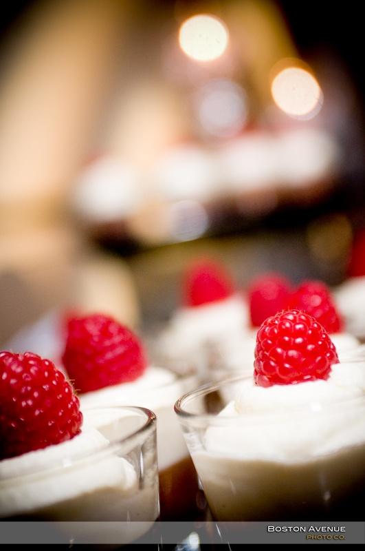 Eglinton Grand fresh raspberry wedding dessert!