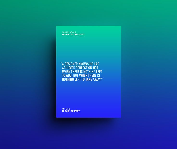 Series of posters with the best quotes about design and creativity and a different two-color gradient for each poster. I wanted to design the layout as simple as possible, to only use the energy of colors and give space to typography and words. If you wan…