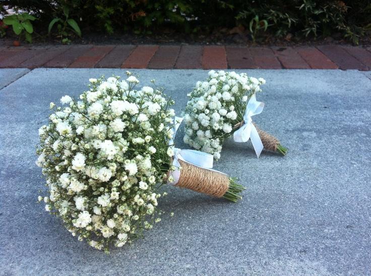 Gipskruid boeketjes voor grote en kleine bruidsmeisjes # by Blommarie