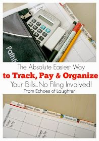 Echoes of Laughter: The Absolute Easiest Way To Track, Pay & Organize Your Household Bills...No Filing Involved!