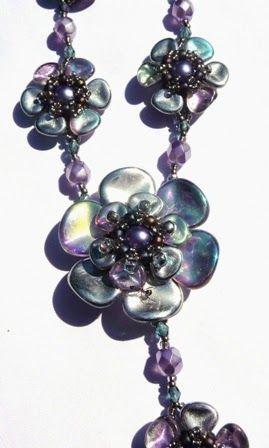 Smartina´s Glasperlereien, Rose Petal beads