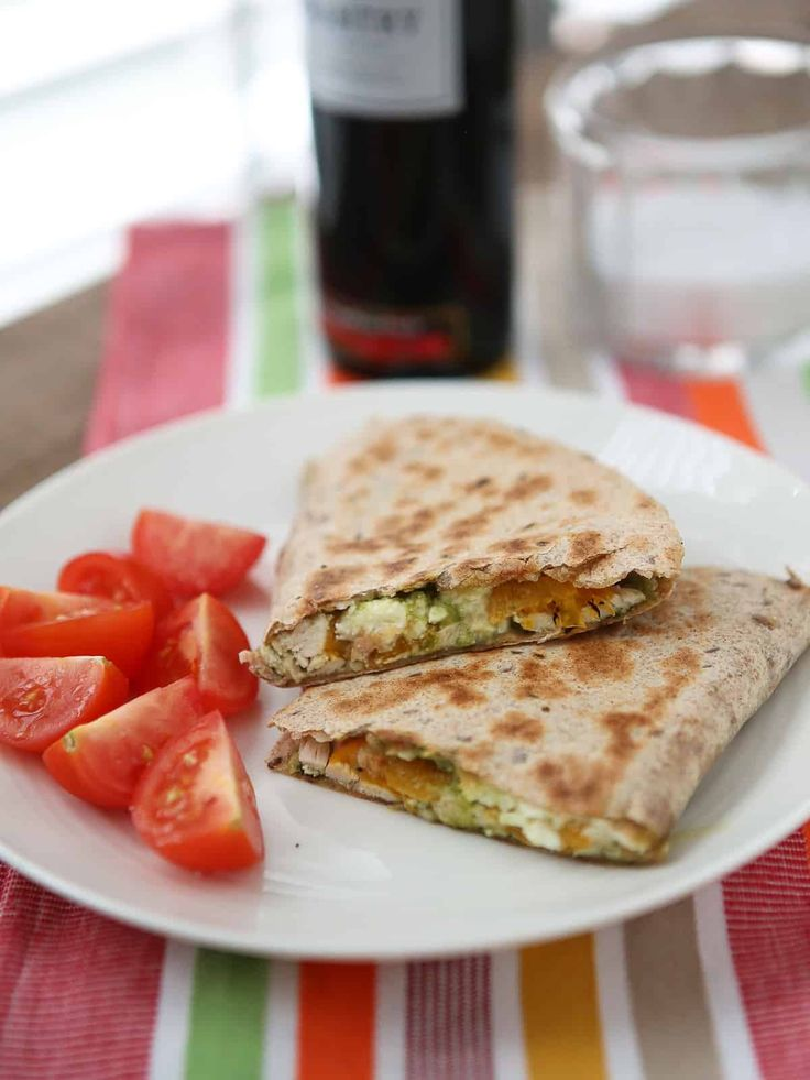 Chicken Pesto Quesadillas are simple and quick to make using just a few staple ingredients. These are a favorite in my house!