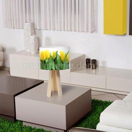 Lampa stołowa mini-trójnóg Złote Tulipany