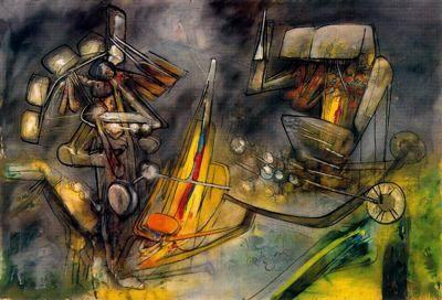 ARTE, PINTURA Y GENIOS.: Roberto Matta: Un mundo surreal con abstracto sabor.El acontecimiento