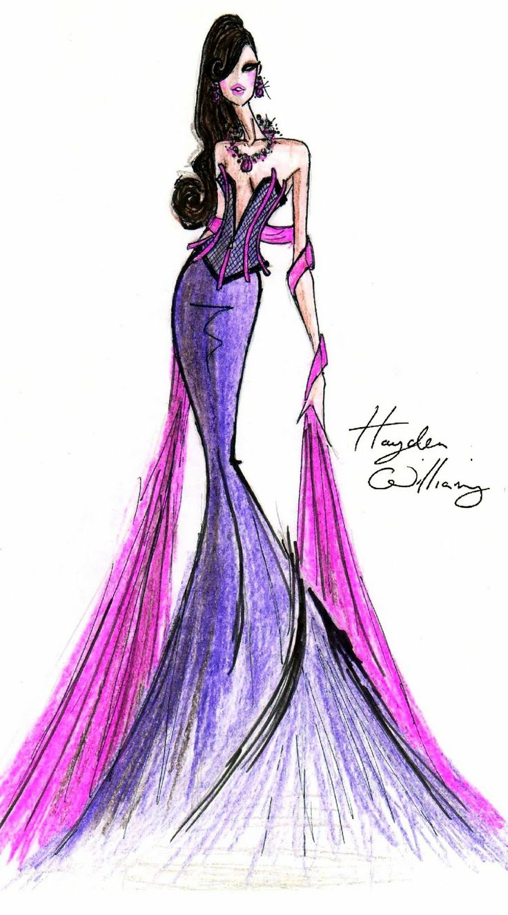 Hayden Williams Fashion Illustrations: Hayden Williams for Fashion Royalty: Purple Haze
