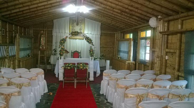 Hacienda para bodas en Bogotá.  Capilla