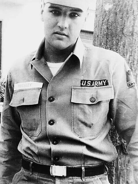 Another image of Elvis in his army uniform.