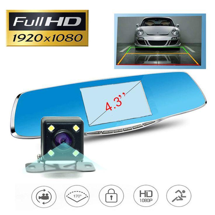 Jansiteフルhd 1080 p車カメラdvrブルーレビューミラーデジタルビデオレコーダー自動カメラregistratorビデオカメラ車カメラ