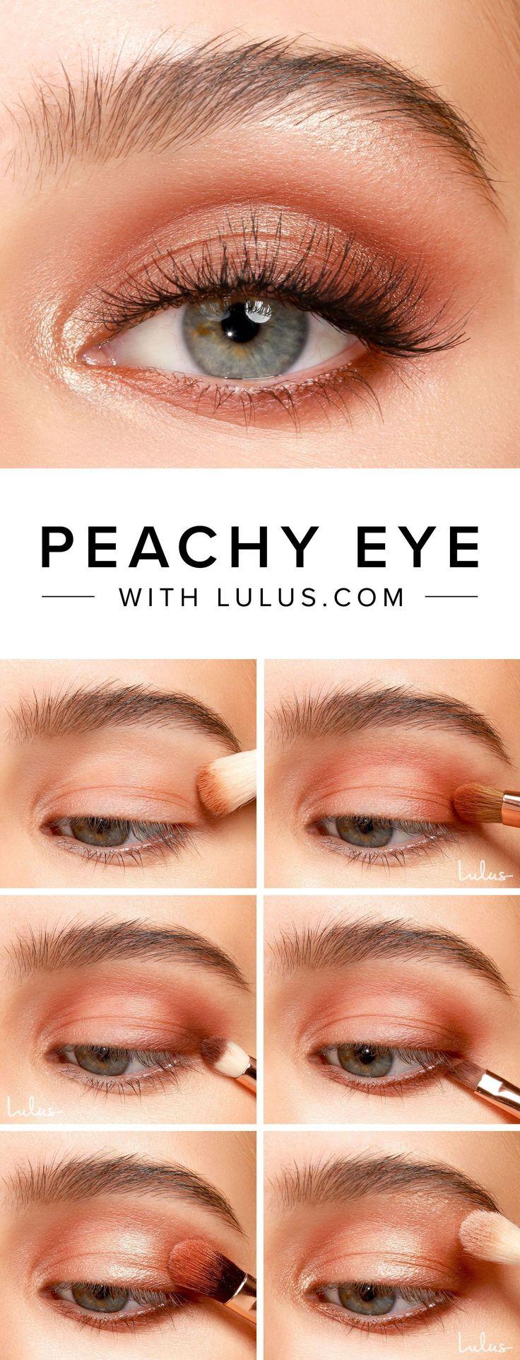 Peachy Eyeshadow Tutorial in 2020 Dramatic eye makeup