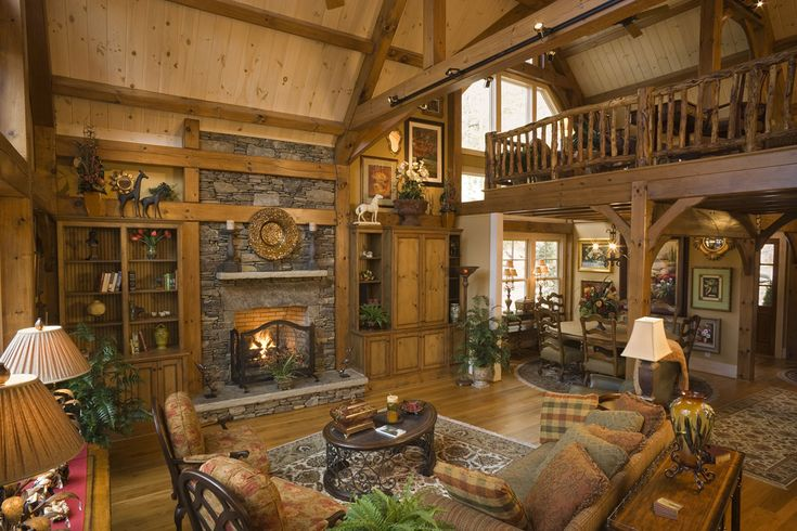 Image result for great room stone fireplace