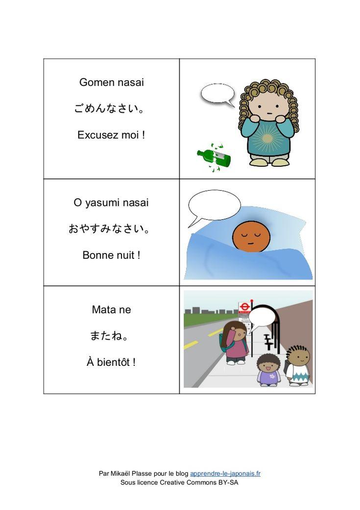 """Voici un petit tableau représentant en image les différentes salutations japonaises. J'y ai inclus notre fameux """"bon appétit"""" français souvent confondu avec le…"""