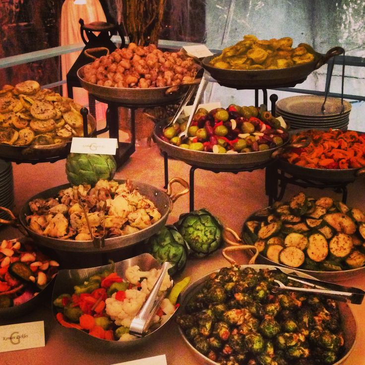 Wedding Reception Food Display: G Catering Display.