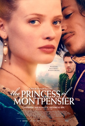 "The Princess of Montpensier - ""Passion Destroys Everything."" A riveting, romantic drama set in the high courts of 16th Century France. Against the backdrop of the savage Catholic/Protestant wars, Marie de Mézières, a beautiful young aristocrat, finds herself married to a young prince she does not love, haunted by a rakish suitor Gaspard Ulliel from her childhood, and advised by an aging nobleman Lambert Wilson, harboring his own forbidden desire for her."""