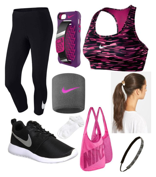"""fitness"" by valen247 on Polyvore featuring NIKE, Tasha, Sweaty Bands and Zella"