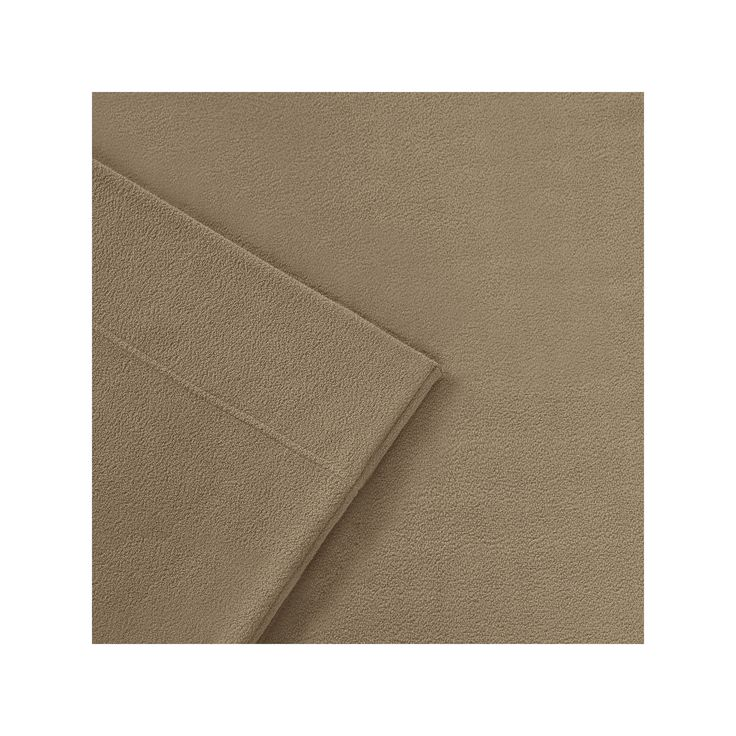 Sleep Philosophy 3M Scotchgard Performance Fleece Sheets, Brown Queen