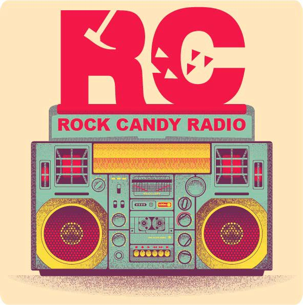 Rock Candy Radio logo  promotion materials by Barbara Bertoli, via Behance