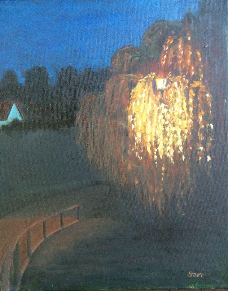 Zagyvapart   - Nehir kenarı (Köszönet Horváth Tündinek) 40 x 50 cm oıl on canvas