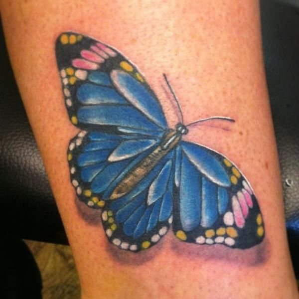 D Butterfly Tattoos  - 45+ Incredible 3D Butterfly Tattoos