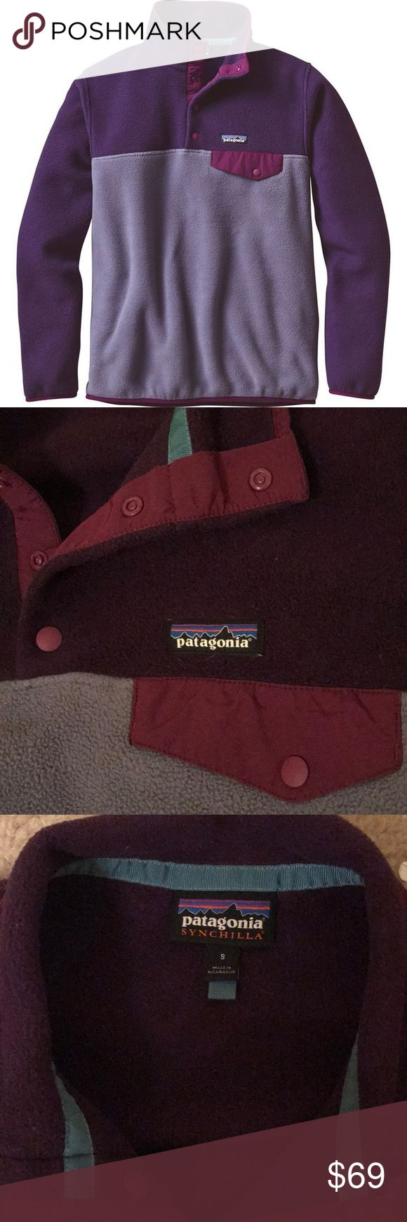 Purple Patagonia Synchilla Jacket Beautiful barely worn Patagonia jacket. I got so many compliments the few times I wore it, just selling for some extra cash. Patagonia Jackets & Coats