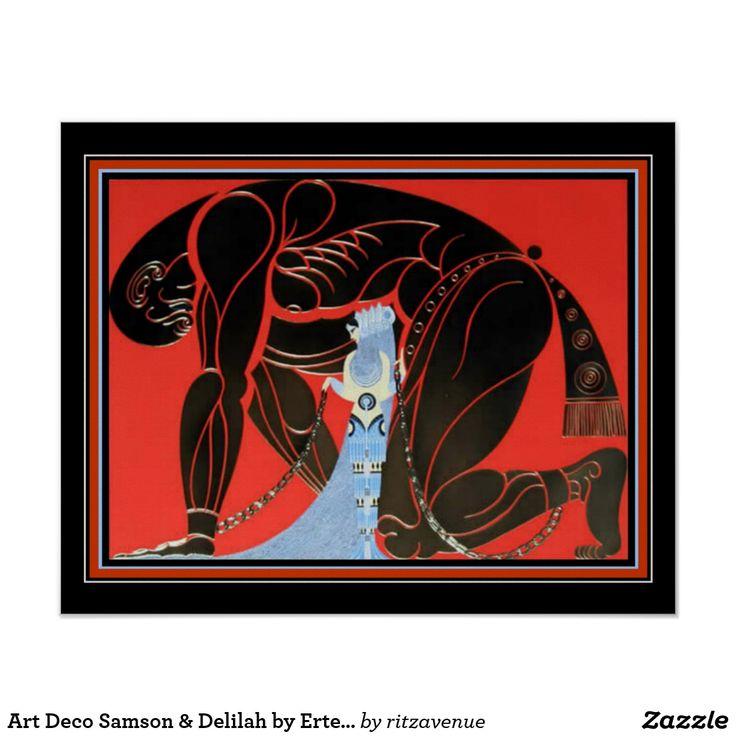 Art Deco Samson & Delilah by Erte 16 x 20 Poster $16