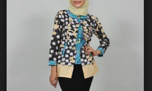 Model Baju Batik Kantor Wanita Berjilbab Model Batik Modern