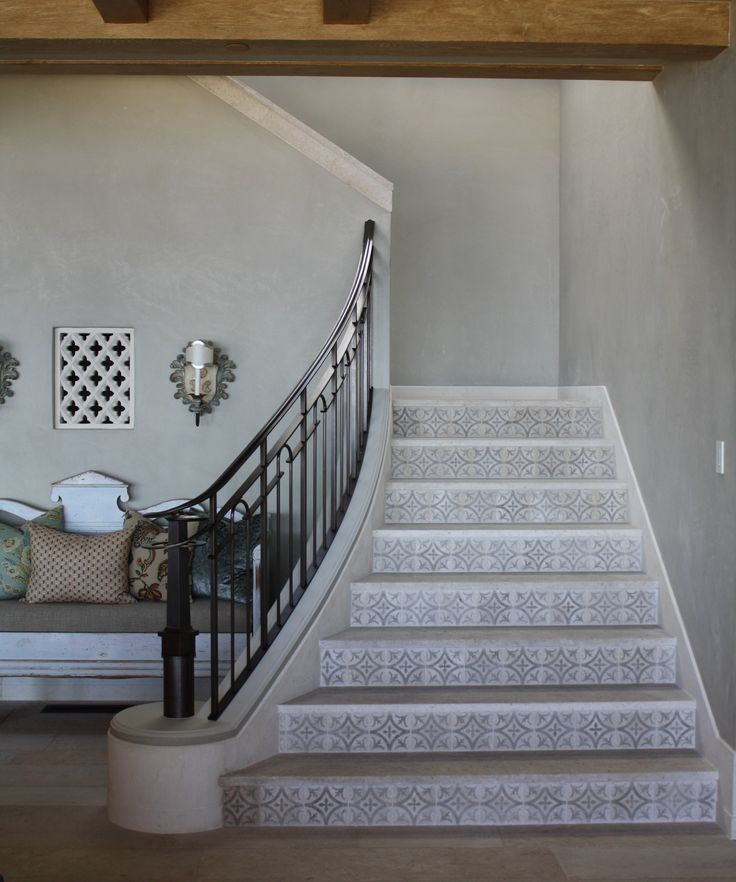 Limestone Stair Risers By Concept Studio
