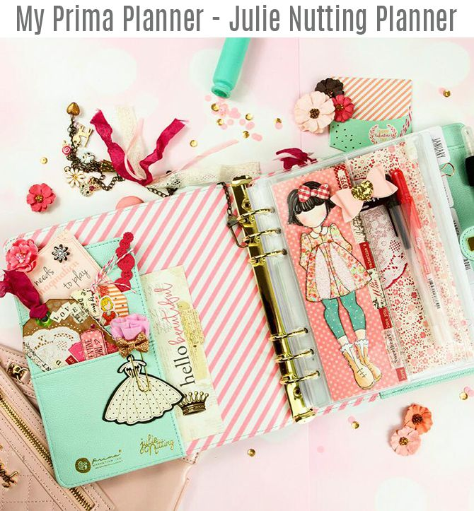 Delight in the everyday with your Julie Nutting Planner! Filled with your favorite Julie Nutting Dolls and whimsical designs, this planner is the perfect addition to your collection. With a cute and sweetly adorned cover, gold touches, and full coloring pages to color to your heart's content, this planner is surely your go-to for any occasion.